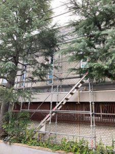 東京都 幼稚園 足場施工