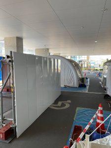 東京都 病院 足場施工