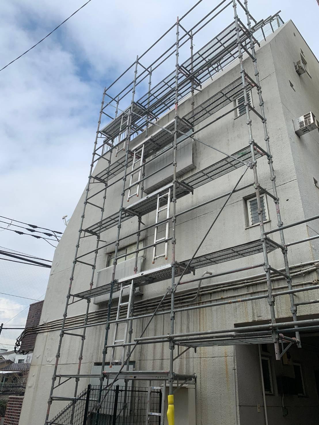東京都 品川区 外部足場
