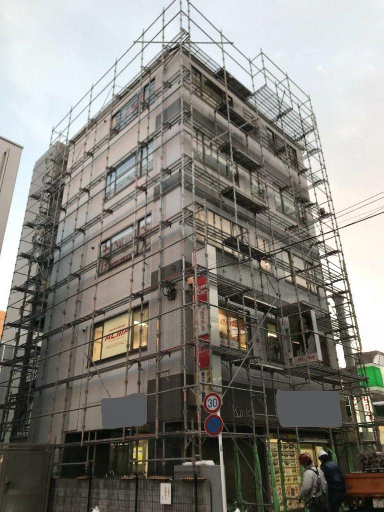 東京都東久留米市 足場施工