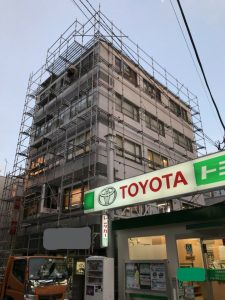 東京都 東久留米市 足場施工