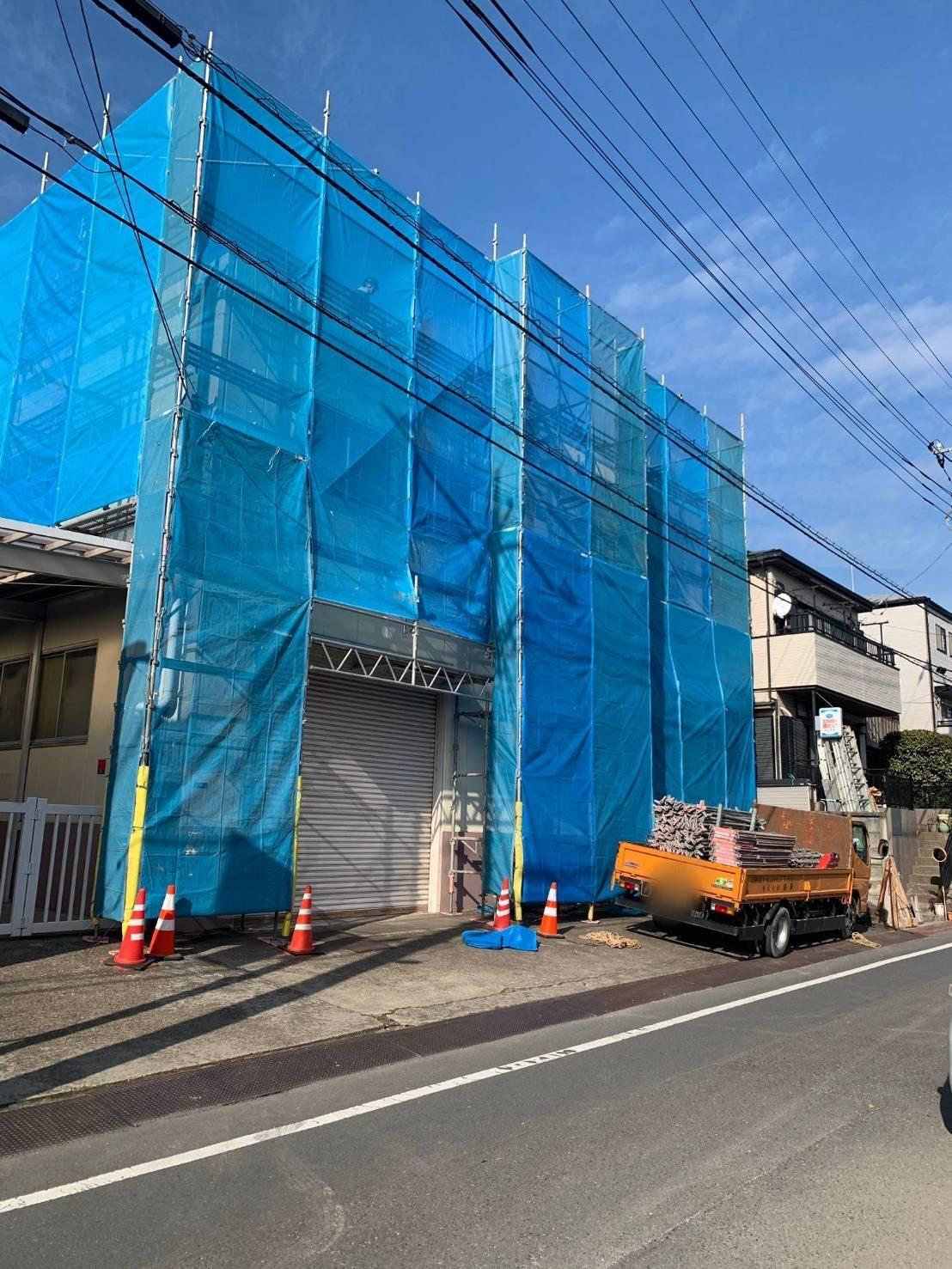 埼玉県 和光市 足場施工