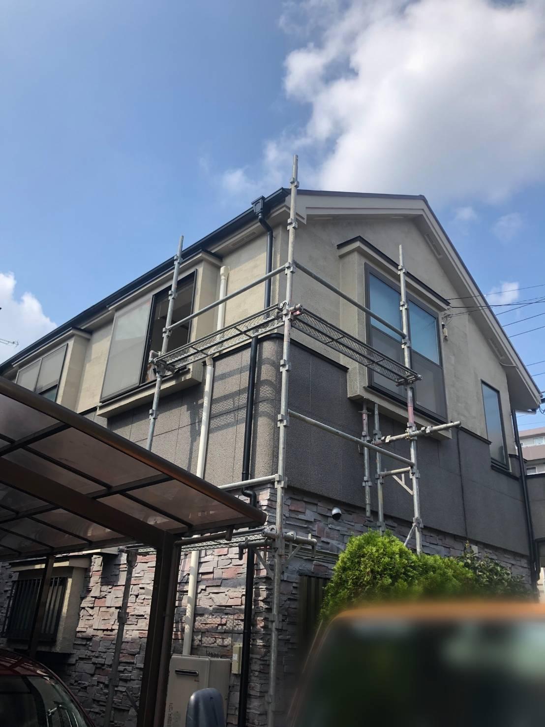 東京都 三鷹市 足場施工
